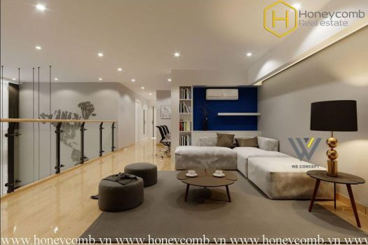 Look at this !! This stunning penthouse is very hot at Masteri Thao Dien 5 - Apartment for rent in HCMC - honeycomb.com.vn