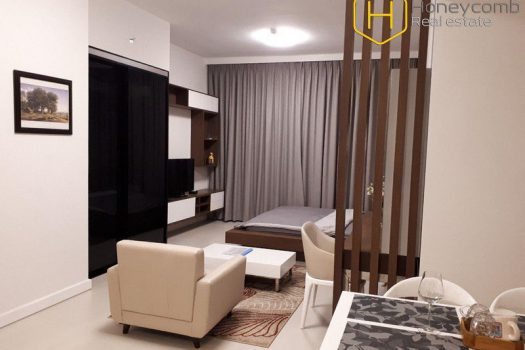 Studio apartment with modern furniture  in Gateway Thao Dien 8 - Apartment for rent in HCMC - honeycomb.com.vn
