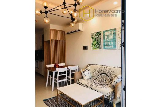 How do you think about this 1 bedroom-apartment with Shabby Chic style from New City ? 3 - Apartment for rent in HCMC - honeycomb.com.vn