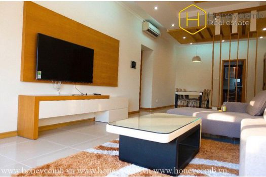 Apartment for rent in HCMC - The 3 bedrooms-apartment is very convenient in Saigon Pearl 1 - honeycomb.com.vn