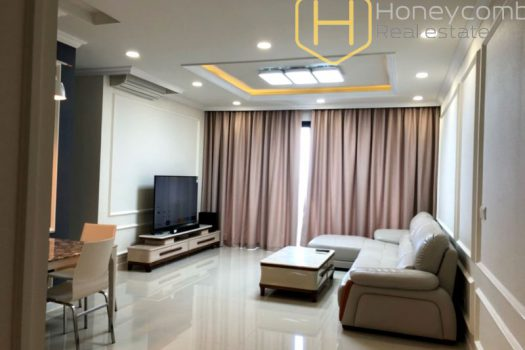 Apartment for rent in HCMC - Open space contemporary-style 3 bedrooms apartment in Estella Heights 9 - honeycomb.com.vn
