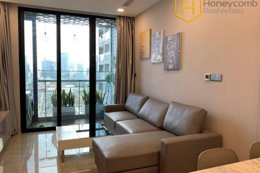 Apartment for rent in HCMC - The 1 bedroom-apartment with brutalism style is very hot in Vinhomes Golden River 3 - honeycomb.com.vn
