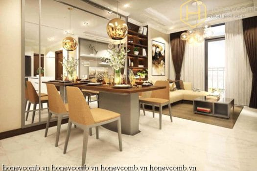 Apartment for rent in HCMC - Graceful 2 bedrooms apartment with full feature in Vinhomes Central Park 5 - honeycomb.com.vn