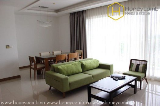 Apartment for rent in HCMC - Simple style with 3 bedrooms apartment in Xi Riverview Palace for rent 2 - honeycomb.com.vn