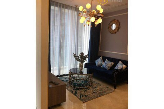 Apartment for rent in HCMC - The 2-bedroom apartment with artistic features in Vinhomes Golden River 4 - honeycomb.com.vn