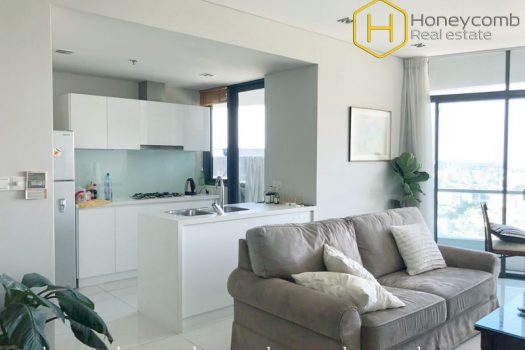 Wonderful 2 bedrooms apartment with high floor in City garden 8 - Apartment for rent in HCMC - honeycomb.com.vn