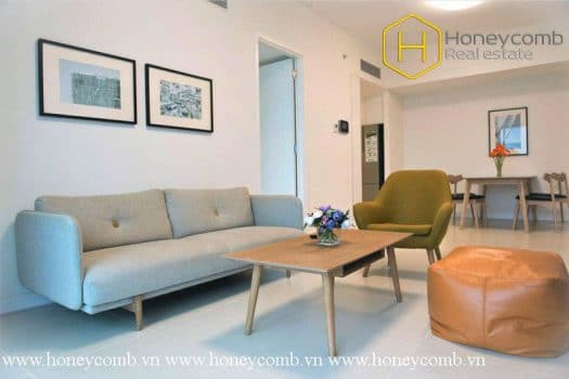 2 bedroom-apartment with the harmony of colour in nature at Gateway 7 - Apartment for rent in HCMC - honeycomb.com.vn