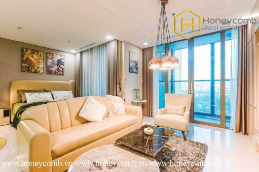 Enhancing your lifestyle with this opulent 1 bedroom-apartment at Landmark 81 28 - Apartment for rent in HCMC - honeycomb.com.vn