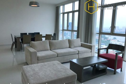 The fresh 4 bed-apartment is attractive at The Vista 2 - Apartment for rent in HCMC - honeycomb.com.vn