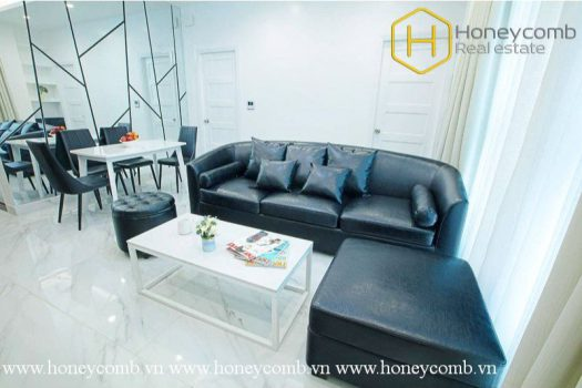 The 2 bed serviced apartment with strong and masculine design at Distric 1 6 - Apartment for rent in HCMC - honeycomb.com.vn