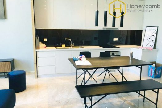 The duplex apartment with ultra modern and elegant design at Estella Heights 7 - Apartment for rent in HCMC - honeycomb.com.vn