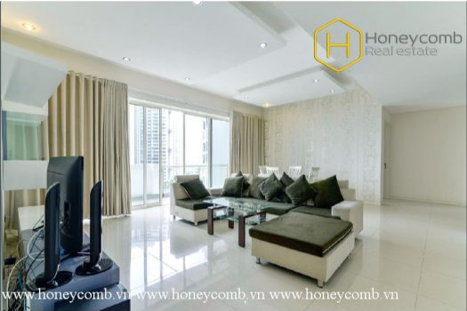 The 3 bed-apartment is so spacious with breathtaking view and modern design at Estella 5 - Apartment for rent in HCMC - honeycomb.com.vn