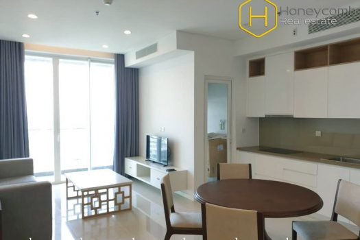 The elegance and warmth make this 2 bed-apartment become the great choice at Sala Sarimi 1 - Apartment for rent in HCMC - honeycomb.com.vn