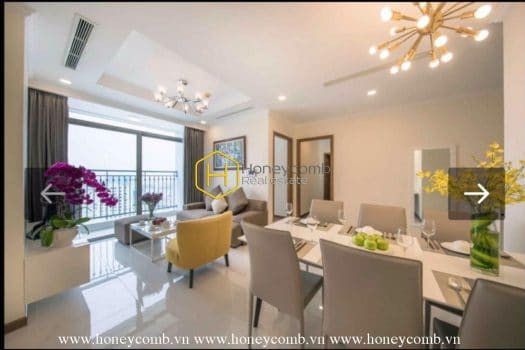VH551 www.honeycomb.vn 1 result Adorable apartment with dreamy architectural design in Vinhome Central Park for rent