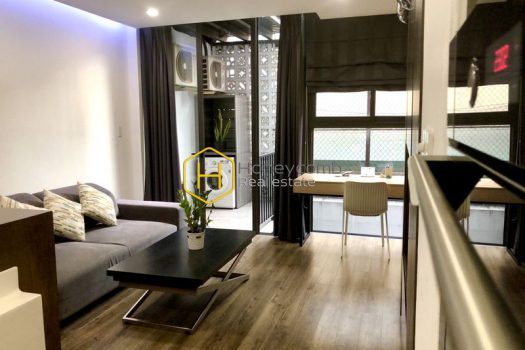 1S8 2 result Feel the elegant and superb design with a wooden furnished apartment for rent in District 1