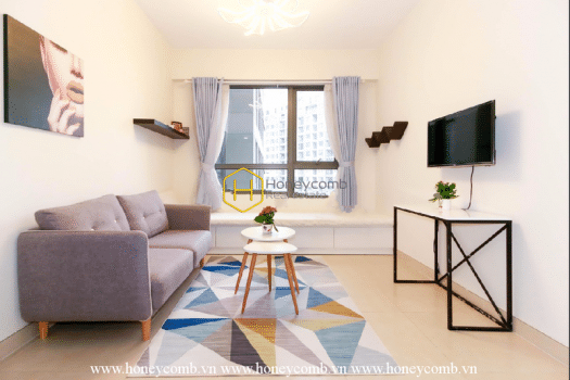 MTD2428 6 result A Masteri Thao Dien apartment with rich gentle color furniture hues warm