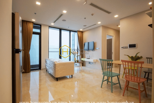 VGR629 2 result Spacious space, modern furniture - let's come to our Vinhomes Golden River apartment now
