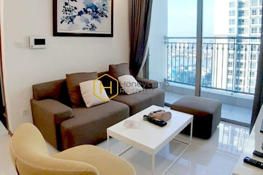 1 result 35 Vinhomes Central Park.apartment with rich brown furniture hues warm a predominantly white